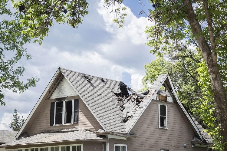 Roof Gets Damaged